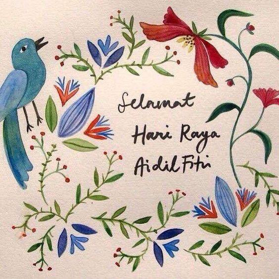 Kumpulan Gambar Ucapan Selamat Hari Raya Idul Fitri 1440 H Cocok Dibagikan Untuk Wa Dan Ig Ilustrasi Kartu Ucapan Idul Fitri Poster Bunga