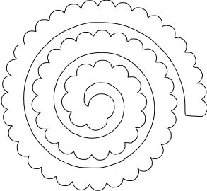 Paper This And That Two Rolled Flower Svg Files  Svg Files