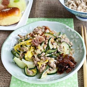 FOODjimoto: Zucchini and Ground Turkey Okazu   Ground Turkey ...