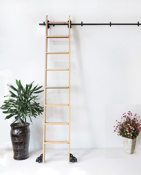Glide Rolling Library Ladder Hardware In 2020 Library Ladder