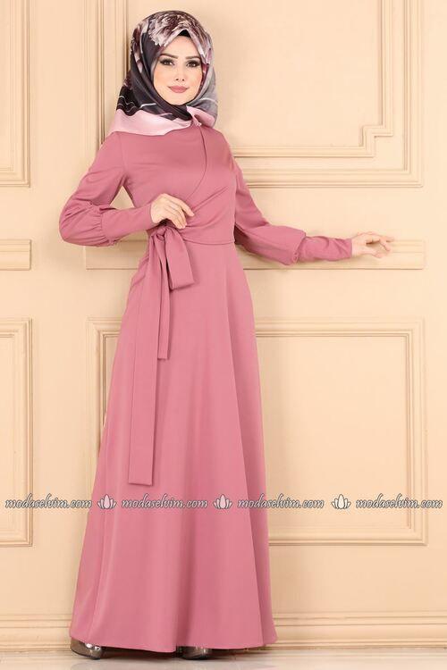 Modaselvim Elbise Yandan Baglamali Elbise 5630mp186 Pudra Dresses Dress Sewing Patterns Fashion