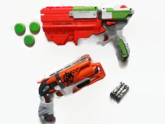 Lot NERF #Zombie Strike Hammershot Blaster #Vortex #Vigilon Blaster Gun Discs Dart #NERF
