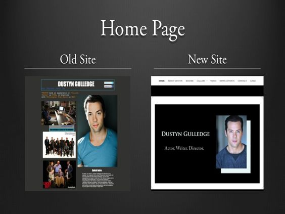 Dustyn wanted a simple yet eye-catching landing page for his new site, rather than a collage of clutter.