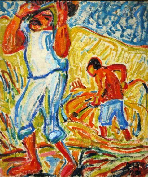 Erich Heckel  Sandgräber am Tiber, 1909  Öl auf Leinwand  96,5 x 82,5 cm  Los Angeles County Museum of Art  © Nachlaß Erich Heckel, Hemmenhofen
