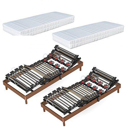 Ensemble électrique 80 x 200 Relaxlatteplus, Matelas Dynamic Latex Armorel Relax Lattes et plots