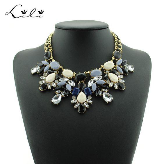 Verão flor Chocker Colar Maxi Colar colares e pingentes para as mulheres
