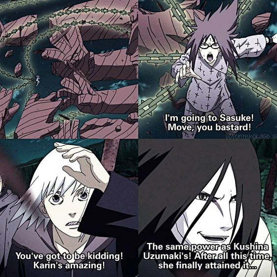 ⠀ HELL YEAH Karin slays That Suikarin moment tho ❤ ⠀ 》Naruto Shippuden ep. 414 ⠀…: