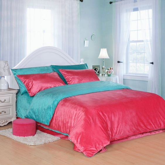 Gallery for turquoise and pink bedding - Turquoise and pink bedroom ...