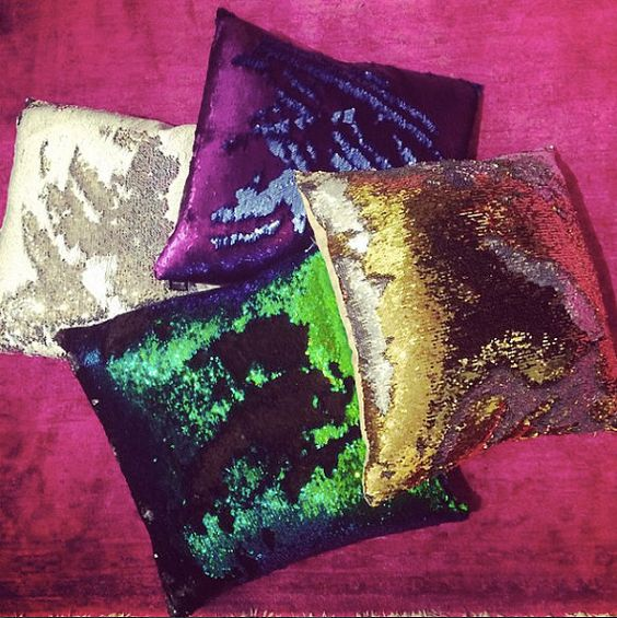 Our Mermaid Pillows are made out of reversible sequin fabric. They are custom made in multiple colors and sizes.  Details: -Sequined polyester