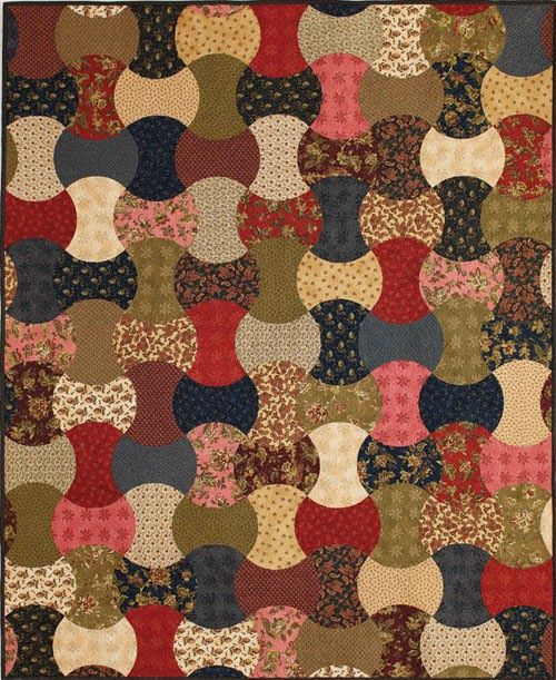 Barbara Brackman's MATERIAL CULTURE: Ladies's Album in an Apple Core in Fons & Porter's Quilting Quickly, Summer 2014