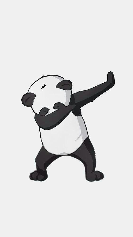 Fond D Ecran Un Panda Dab Fond D Ecran Geek Panda Mignon