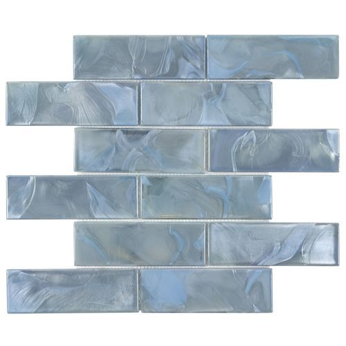 Mystic Glass Astral Brick Mosaic 2x6 On 12x12 Sheet In 2020 Glass Brick Mosaic Wall Tiles Glass Mosaic Tiles