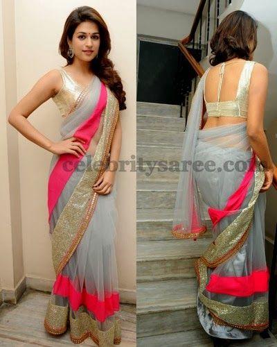 Shraddha Das Tissue Saree | Saree Blouse Patterns