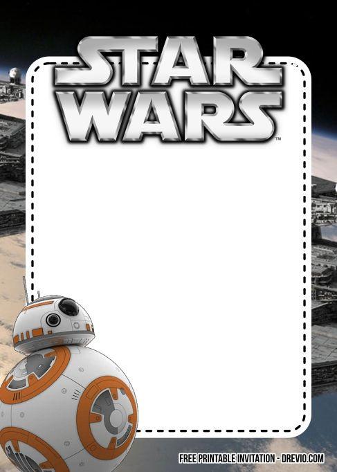 Star Wars Birthday Invitations Printable Free Star Wars Invitations Star Wars Birthday Invitation Star Wars Invitations Free