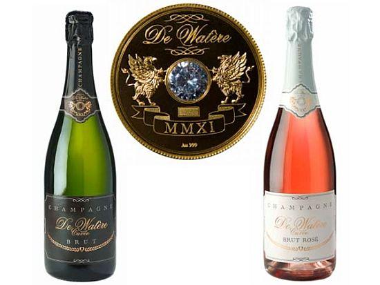WEB LUXO - Bebidas: Champagne premium Watere cravejado de diamantes e ouro está disponível por R$ 86.000