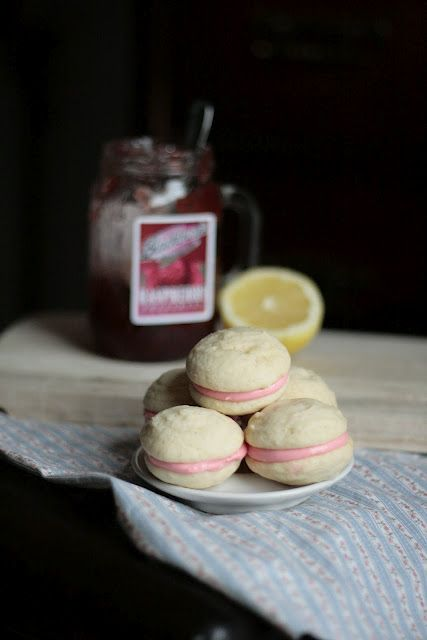 Raspberry Lemon Cream Cheese Whoopie Pies