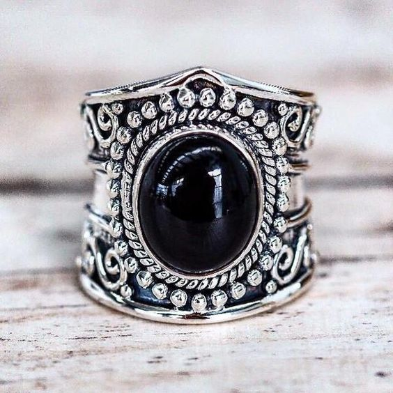 Make a Statement with our Tribal Onyx Ring! Available in our 'Bohemian' Collection www.indieandharper.com