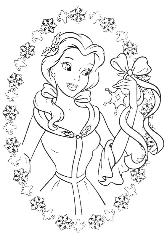 coloring pages disney princess belle - photo#35