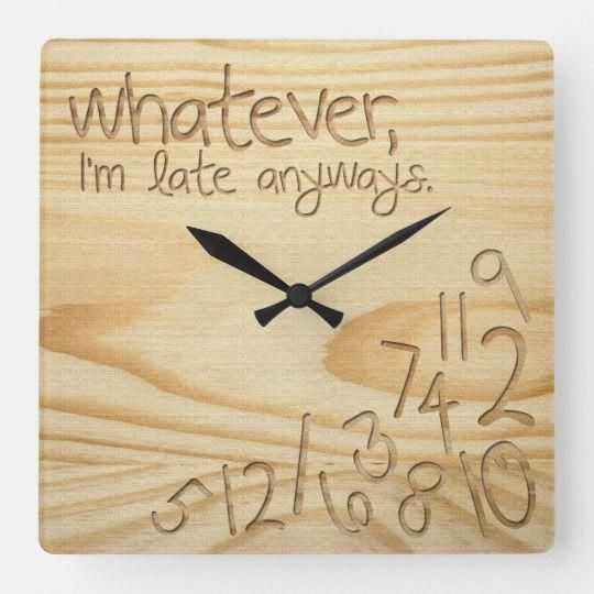 For Example You Need To Know What Kind Of Wood Is Best For Outside Jobs And Which Ones Are For Indoor Tasks In 2020 Square Wall Clock Engraved Wood Wall Clock