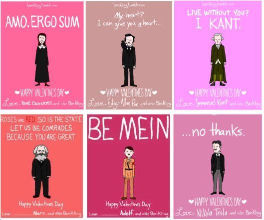 Ben Kling Philosopher Valentine Dictator Valentine Cards Humorous Pun  Valentine
