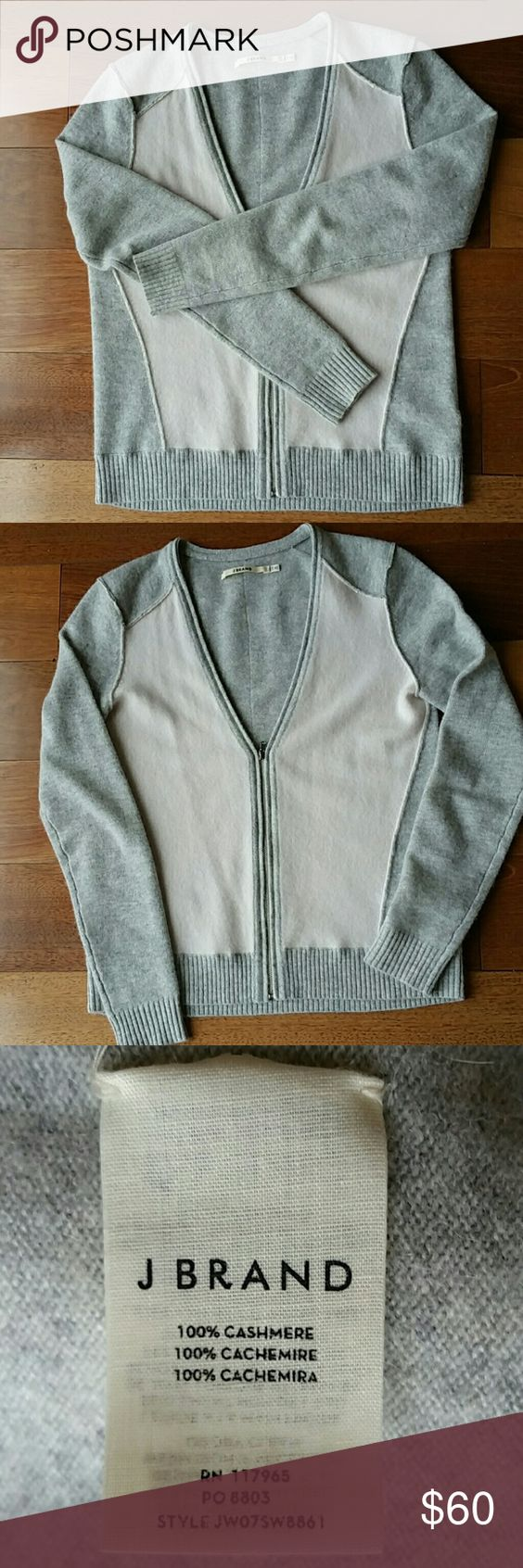 """J Brand Ready to Wear Cashmere Cardigan Supper soft, shrunken sweater, length is 22.5 """" in back. j brand  Sweaters Cardigans"""