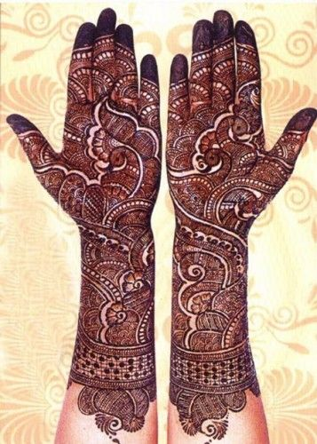 Traditional Floral mehndi for brides