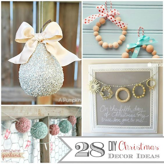 28 DIY Christmas Decor Ideas - thecraftedsparrow.com: