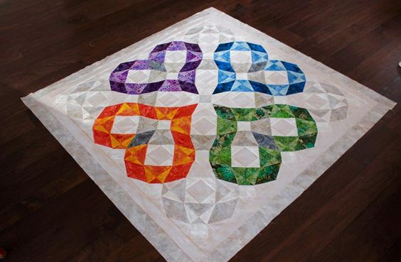 (7) Name: 'Quilting : Heartwaves - Weddig Quilt