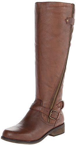 Steve Madden Women's Syniclew Wide Calf Riding Boot, Brown, 7 W US