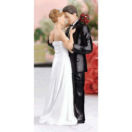 Tender Embrace Caucasian Couple Figurine