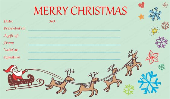 christmas gift certificate templates - Google Search December - christmas gift vouchers templates