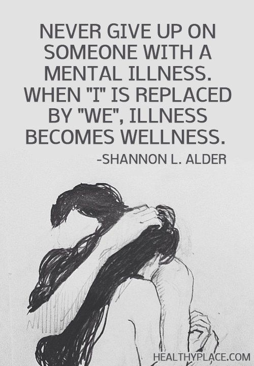 how to live with someone with mental illness