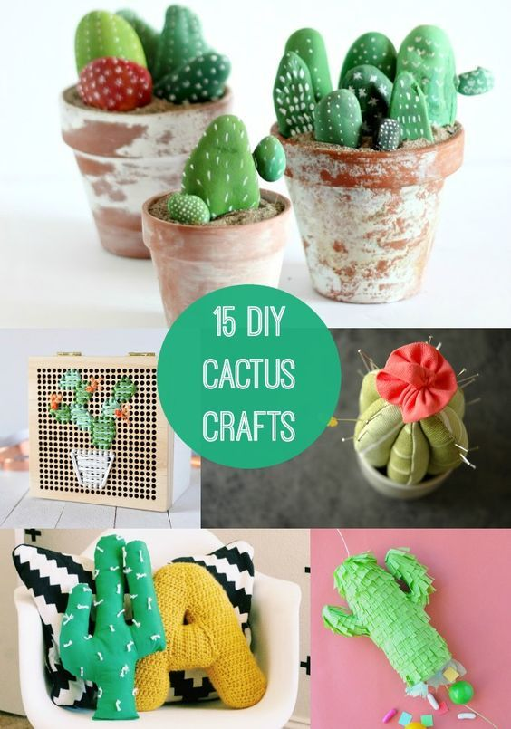 Looking for a cute plant project that is guaranteed to be drought resistant? Check out one of these 15 DIY cactus crafts!: