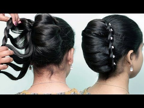Very Easy Hairstyle Using Clutcher With Trick Braided Bun Hairstyles New French Bun Hairstyle In 2020 Braided Bun Hairstyles Very Easy Hairstyles Easy Hairstyles