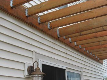 simple attached pergola: Deck Ideas, Attached Pergola, Decks Porches Pergolas Patios, Design Ideas, House Gardens, Decks Pergolas, Patio Ideas