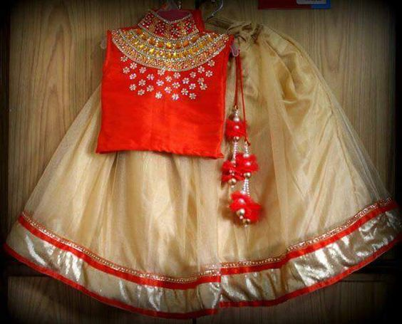Maharani neck pattern blouse and lehenga - best online shopping ...