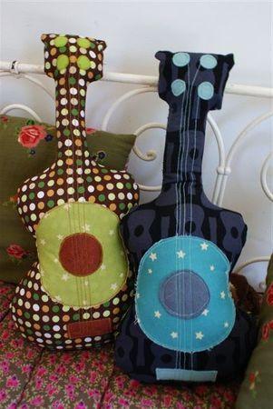 Guitar pillows: