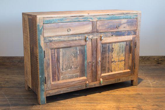 Cabinet bois recyclé