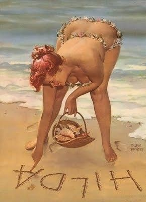 Hilda at the seashore: