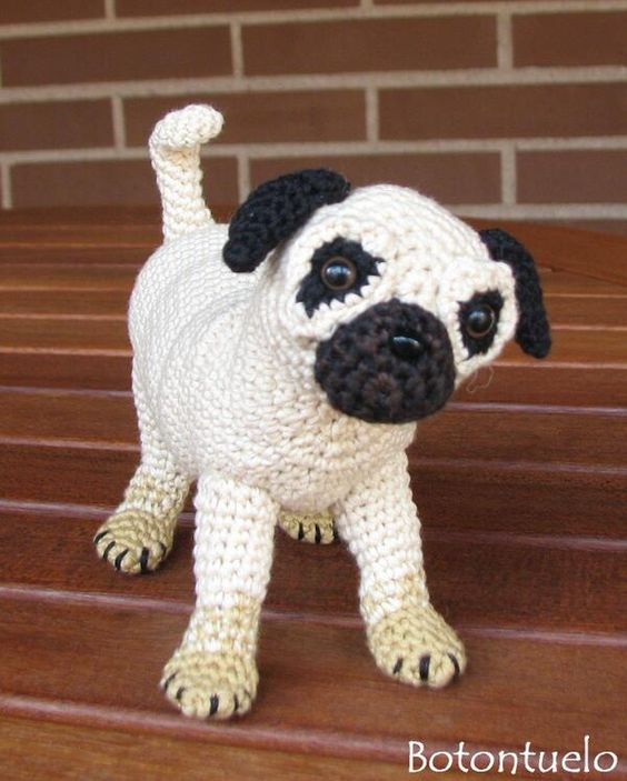 Pug En Amigurumi : Amigurumi and Pug on Pinterest