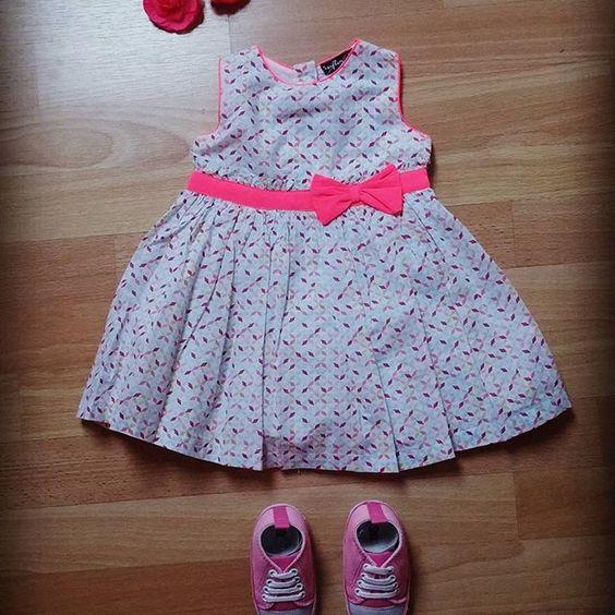 La collection printemps pour les petits bouts est à tomber! Qu'en pensez-vous? :-) Petit plus, notre marque cora Influx est composée de coton bio!  #vêtements #bebe #fille #rose #robe #basket #noeud #Liege #corarocourt #influx #coton #bio #pink #printemps #soleil