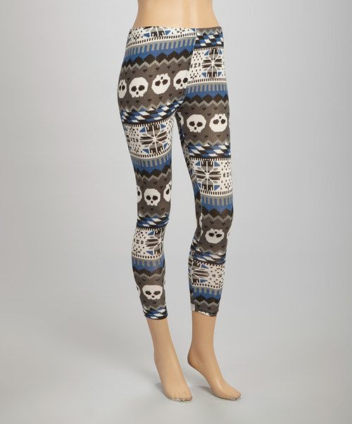 Fair Isle skull motif leggings.