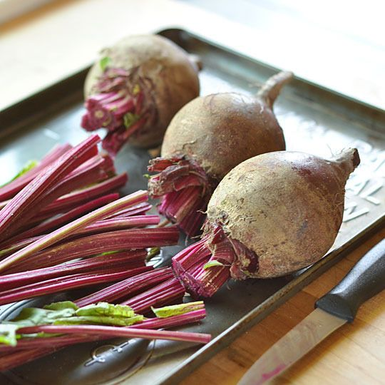 How to roast red beets in the oven.