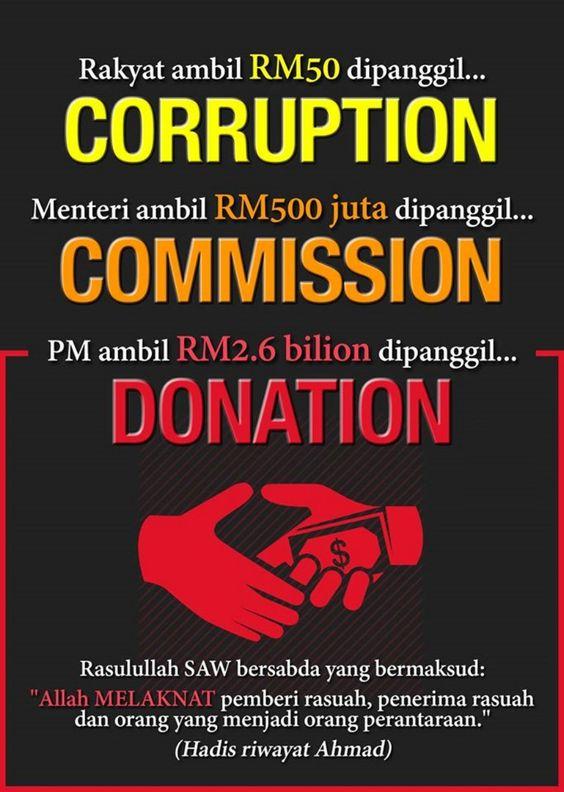 Najib Razak langgar undang-undang anti rasuah kerana terima 'derma' - Berita internet hangat!