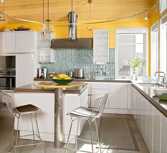 Kitchen Cabinets In White One Of The Better Modern Kitchens I Ve Seen Cabinets Ive Kitch Clean Kitchen Cabinets White Kitchen Laminate Cleaning Cabinets