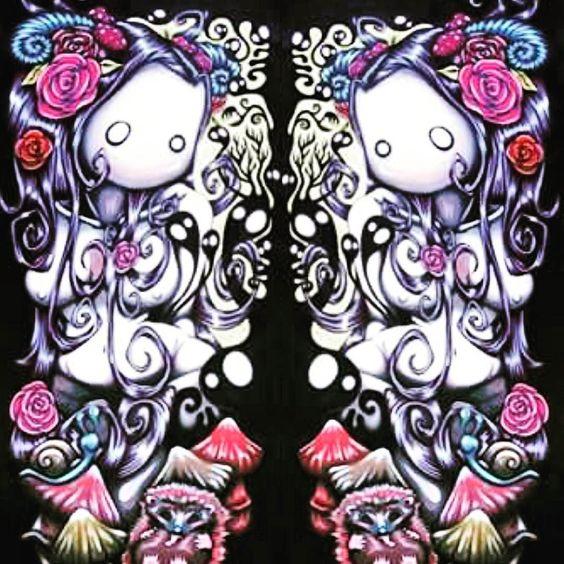 Nydilésienne - NLF  2013 -  #art #artwork #artist #instaart #instagart #artistoninstagram #picture #artists #paint #painting #paintingart #superflat #paintingartgallery #lowbrowart #lowbrow by nydenlafee