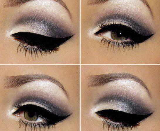 Tendencias de maquillaje para esta temporada color gris como protagonista en los ojos! http