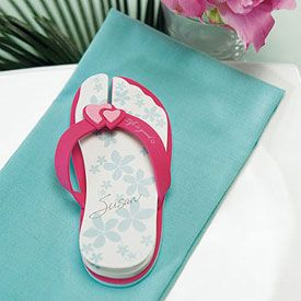 322.Flip Flop Wedding Favor Note Pads