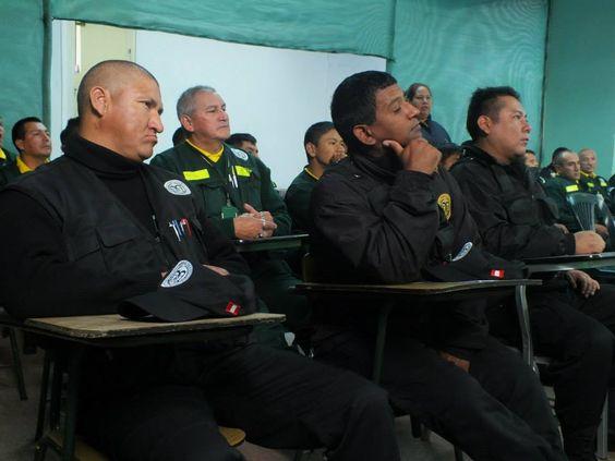 Personal en plena capacitación en la Gerencia de Seguridad Ciudadana de Pueblo Libre.
