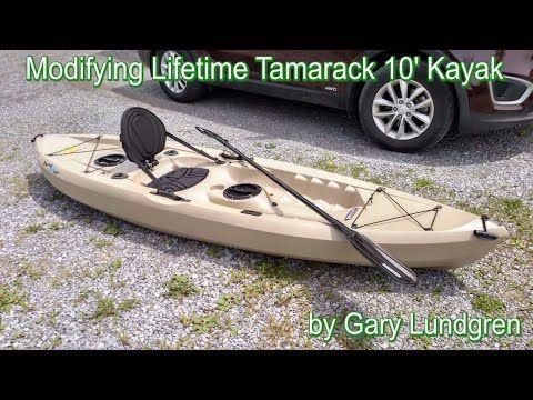 Lifetime Tamarack Angler Kayak Mods Youtube Angler Kayak Kayaking Kayak Fishing Diy
